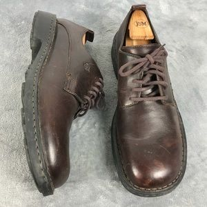 Born Men's Brown Leather Lace Up Oxford Shoes 13